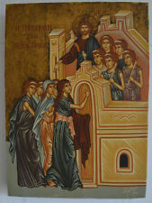 """ The parable of the ten virgin""hand painted byzantine icon"