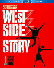 West Side Story (Blu-ray/DVD, 2011, 3-Disc Set, 50th Anniversary Edition) New