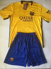 Barcelona FC Yellow Football/Soccer Jersey Set
