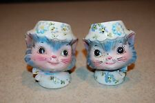 vintage ceramic kitty cat salt and pepper shakers