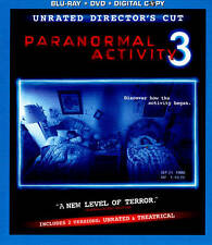 Paranormal Activity 3 (Blu-ray/DVD, 2012, 2-Disc Set, Rated/Unrated; VG