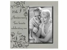 25th Silver Wedding Anniversary Metal Finish Picture Photo Frame Party Gift