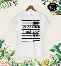 Nobody Said It Was Easy T Shirt Mascara Make Up Zoella Wifey Celine Eyeliner