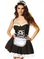 Ann Summers Maid To Pleasure Outfit, +/- hold-ups, 6-26 *NEW* Blk/White
