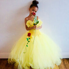 Disney Princess Belle Inspired Dress,Tutu Dress/Gown  Age's 3-12 Yrs