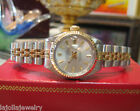 LADIES ROLEX OYSTER PERPETUAL DATEJUST 18K YELLOW GOLD AND STAINLESS STEEL WATCH