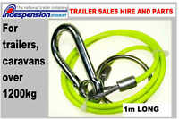 BRIAN JAMES TRAILER BREAKAWAY BRAKE SAFETY CABLE STAY LEGAL SAVE A FINE & POINTS