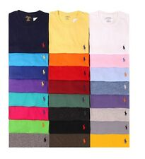 Men's New Polo Ralph Lauren Custom Fit Crew Neck Short Sleeve  T-Shirts