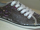 Gorgeous KUSTOM Pip Sparkle Silver Casual Lace Up Shoes, Size 6. NIB, RRP$79.95.
