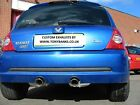 RENAULT CLIO 182 EXHAUST SYSTEM NEW STAINLESS STEEL