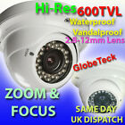 GTDBJ OUTDOOR METAL DOME INFRARED VARIFOCAL CCTV CAMERA SONY 600TVL