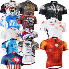 FIXGEAR Mens cycling jersey top gear tight bike shirts wolf skull clothing S~3XL