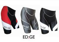 ED:GE™ Mens Padded Cycling Cycle Lycra Compression Shorts Red Black White