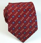 #1 Dad Father's Day Gift Burgundy Novelty Theme Skinny Neck Tie Mens Necktie