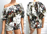 CHILLI PEPPER OVERSIZE PUFF TOP MULTI PRINT SZ 8/10