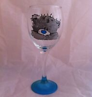 Me To You Bear Hand Painted Wine Glass, Unique Tatty Ted gift, Present For Her