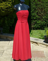Monsoon NAFISA Red Sequin Beaded Strapless Maxi Dress 08 Wedding PROM Cruise