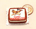 1:12 Scale Oblong Thanksgiving Cake Dolls Miniature House Kitchen Accessory SC11