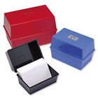 RECORD CARD INDEX BOX 6x4 RED + Pack 100 Record Cards