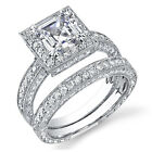 2.60 Ct. Asscher Cut Diamond Engagement Bridal Set