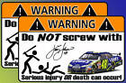 Jimmie Johnson warning sticker decal Nascar Lowes 48
