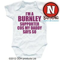 BURNLEY SUPPORTER football baby suit 6-12 month