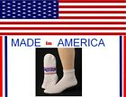 12 men big & tall x large WHITE cotton diabetic ankle sock size 13-15 gift him
