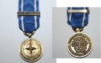 NATO FORMER YUGOSLAVIA, IFOR, MINI MEDAL WITH CLASP