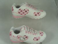 GIRLS HELLO KITTY KIDS TRAINERS (DANCE) WHITE/PINK