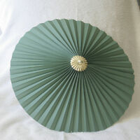"""Mid Green 13"""" Pleated uplighter Pendant lampshade"""