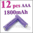 12 AAA 1800mAh 1.2 V Ni-MH rechargeable battery RC P1