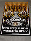 Boston Bruins Stanley Cup Champions Sign Parking FREE