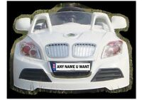 PERSONALISED NUMBER PLATE FOR KIDS RIDE ON CAR