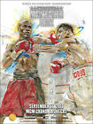 FLOYD MAYWEATHER vs VICTOR ORTIZ ON SITE FIGHT POSTER