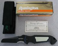 NEW Remington 19847 Escape Premier Sheepsfoot Rescue Knife 440C Stainless Blade