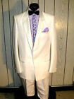 COSTUME WHITE TUXEDO MENS 42S VINTAGE TUX GREAT FOR HALLOWEEN-PARTY