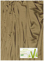 Silky Micro Modal  4 ways Spandex Jersey  Knit Fabric Eco-Friendly  Camel