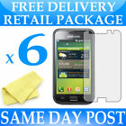 6 x Anti Scratch Screen Protectors for Samsung Galaxy S i9000 - Display Savers