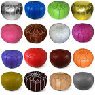 STUFFED Moroccan Leather Pouf, Poufs, Pouffes, Ottomans, many colors available