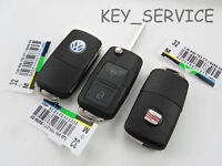 ***1J0 959 753 AG/CT 434 MHZ NEW VW SEAT TWO 2 BUTTON FLIP KEY FOB