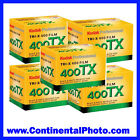 Pack of 5 Tri-x 135-36 35mm TX-36 Black and White Print Kodak Film
