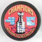 (#032) Ron Duguay Signed 1994 New York Ranger Stanley Cup Puck
