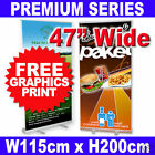 "47"" Wide Retractable Roll Up Banner Stand Exhibition Pop Up Display FREE PRINT"