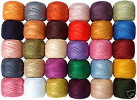 30 New Anchor Crochet Cotton Embroidery Thread Balls *Best 30 Colours