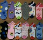 6, 12 pair women ladies multi color no show casual socks size 9-11 gift idea her