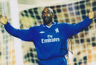 Chelsea F.C Jimmy Floyd Hasselbaink Hand Signed Photo 12x8.