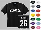 Flames Custom Name & Number Personalized Hockey Youth Jersey T-shirt