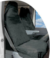 BLACK VAN SINGLE SEAT COVER PROTECTOR FOR NISSAN CABSTAR ALL WATERPROOF 1V