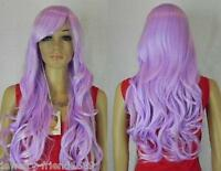 New wig Heat Resistant Cosplay Lavender Purple long Curly Full wig