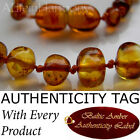 Honey BALTIC AMBER Baby Teething NECKLACE AGbA® Certified